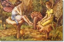 Cicely-mary-barker-other-miscellaneous-works-elves-and-fairies-postcards-a-happy-meeting
