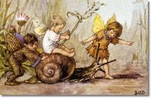 Cicely-mary-barker-other-miscellaneous-works-elves-and-fairies-postcards-a-joy-ride