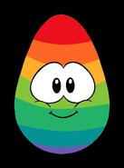 Rainbow Puffle Egg Carwyn