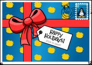 Happy Holidays postcard closed