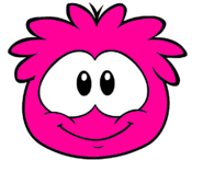 Hot pink puffle