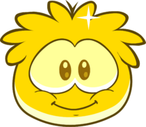 Gold Puffle in game walk