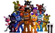 FNaF World - Menu Principal - Animatrônicos adventures