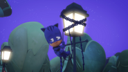 Catboy is stuck up on a lampost 03