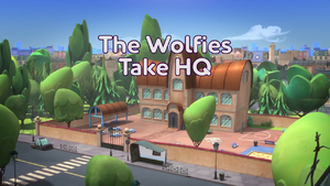 The Wolfies Take HQ Title Card