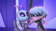 Motsuki recharges Luna Girl's Luna Magnet