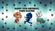 Taeo Baxter birthday card