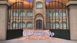 PJ Power Up Title Board