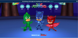 PJ Masks website as of August 20, 2016