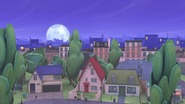PJ Masks' Neighborhood in night