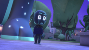 Night Ninja sees the Super Cat Stripes coming towards him 02