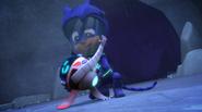 Catboy holds PJ Robot