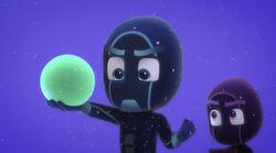 Night Ninja with a sticky splat ball