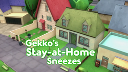 Gekkos Stay-at-Home Sneezes Card
