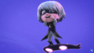 Luna laughing after Catboy is trapped.