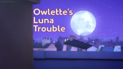 Owlette's Luna Trouble card