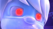 Luna statue red eyes
