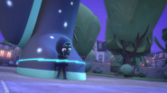 Night Ninja is now tied onto the foot of his statue