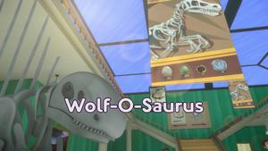 Wolf-O-Saurus Title Card