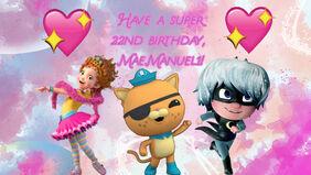 MaeManuel1 22nd birthday card