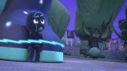 Night Ninja angrily looks at Catboy