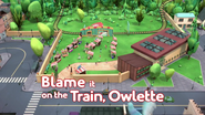 Blame it on the Train Owlette Card