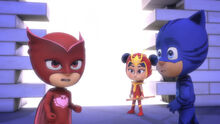 Owlette, An Yu, and Catboy at the portal