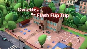 Owlette and the Flash Flip Trip Card