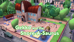 Gekko and the Snore-A-Saurus Card