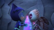 Catboy and Motsuki fight over the crystal