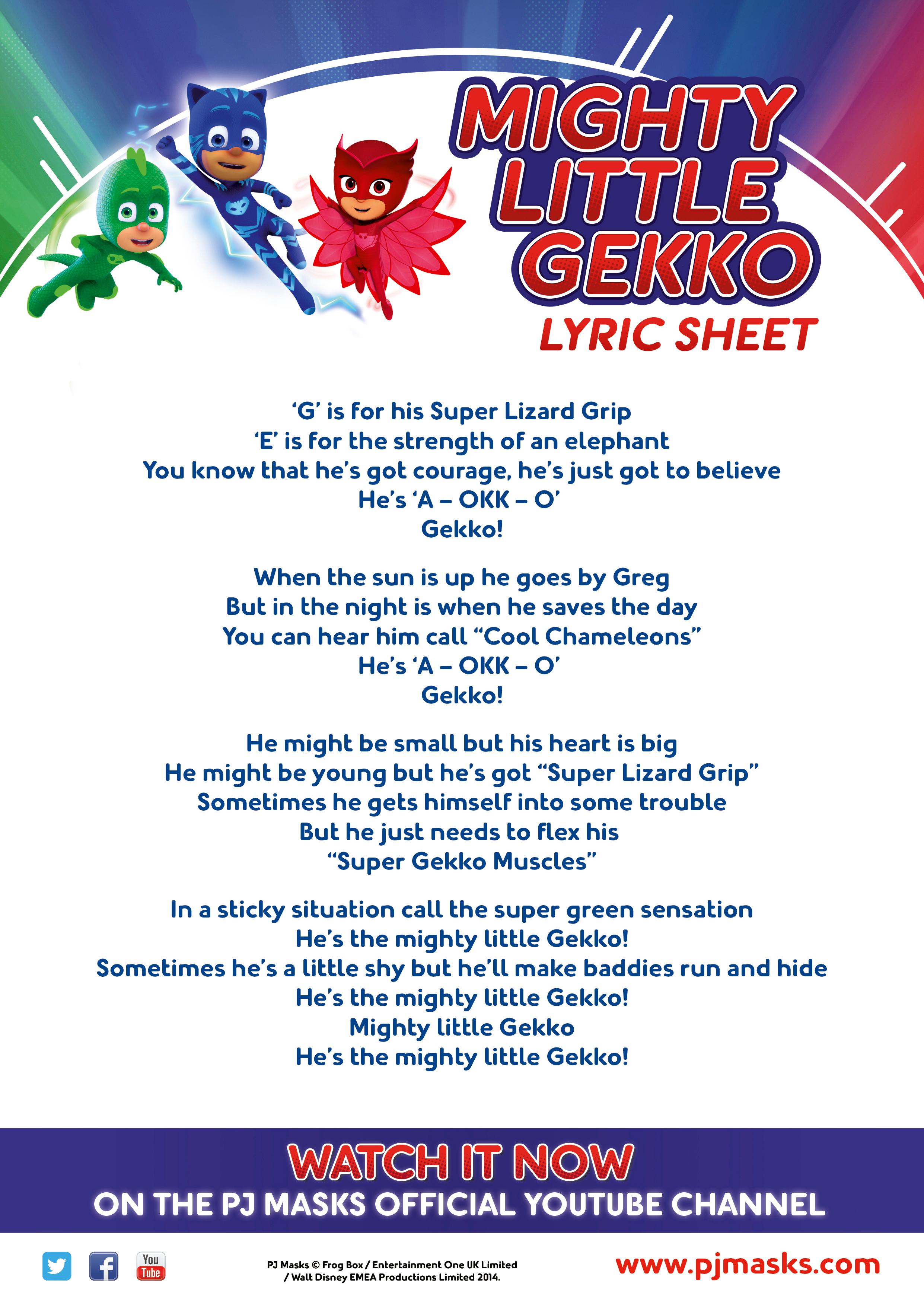 mighty little gekko song pj masks wiki fandom powered by wikia