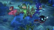 PJ Masks victory stance in Power Pondweed