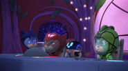 PJ Masks and PJ Robot back in the PJ Rocket
