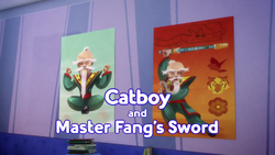 Catboy and Master Fangs Sword Card