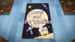 Luna and the Wolfies Title Card