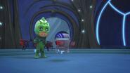 PJ Robot helps Gekko put on a jetpack