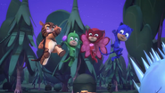 PJ Masks victory pose in PJ Masks vs. Bad Guys United