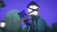 Catboy is stuck up on a lampost 01