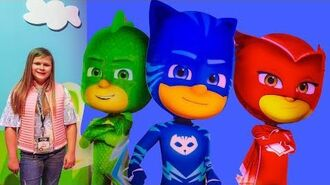 Assistants sees New PJ Masks and Paw Patrol Toys at Toy Fair