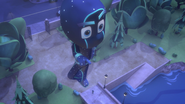 Night Ninja's statue in Catboy Power Up