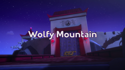 Wolfy Mountain Title Card