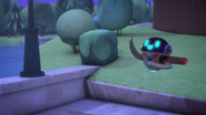 PJ Robot gives a thumbs up to Catboy