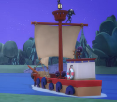 Pirate Ship Float Modified 02