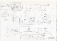 A rough layout of the screens as they appear in the first episode