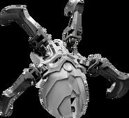 Set Skull Spider Silver