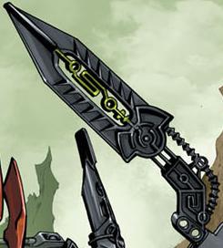Comic Skrall Tribal Design Blade