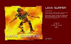 Surfowanie lawa