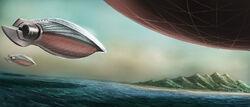 Art Airships Approaching Mata Nui