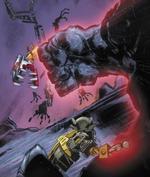 Comic Hewkii Inika Using Stone Powers