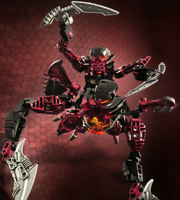 Promo Art Makuta Antroz and Matoran Radiak